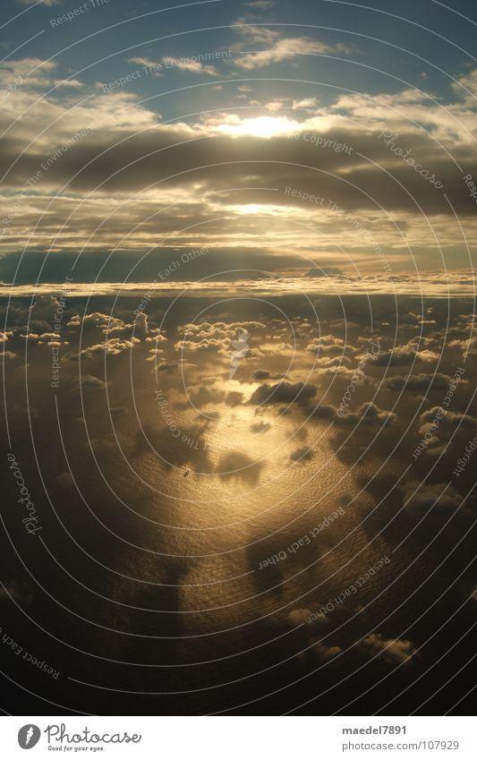 xxx schön Himmel Meer blau Freude Wolken dunkel Wärme Landschaft fliegen Trauer Luftverkehr Physik Australien Fernweh Vorfreude