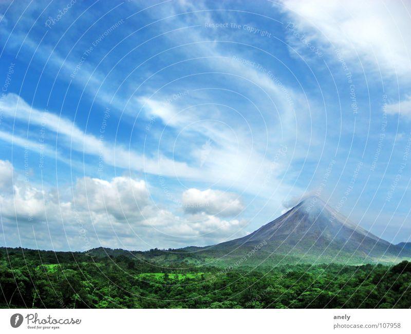 Kaffeewerbung an Vulkan Natur Himmel Farbe Berge u. Gebirge Aussicht Rauch Urwald Ausbruch Mittelamerika Costa Rica