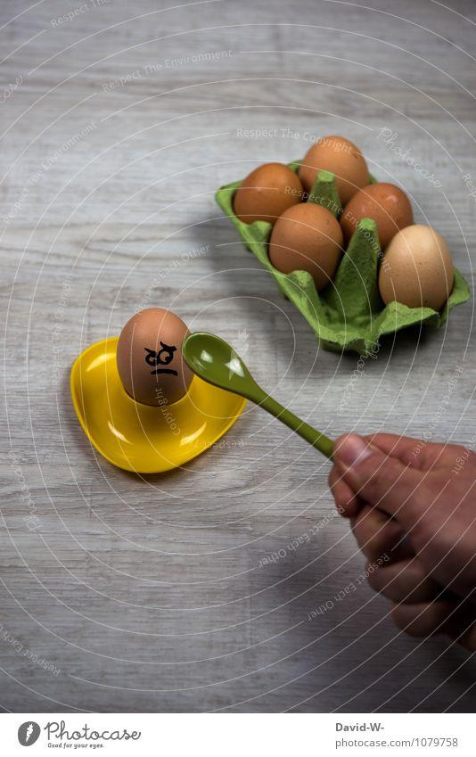 hab erbarmen Hand Gesunde Ernährung Gesicht Traurigkeit lustig Essen Lebensmittel verrückt gefährlich Kochen & Garen & Backen Ostern Gesichtsausdruck