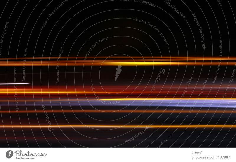 Farben Licht Strahlung ausbreiten Nacht dunkel Autobahn Langzeitbelichtung mehrfarbig Hintergrundbild Verkehr Elektrisches Gerät Technik & Technologie