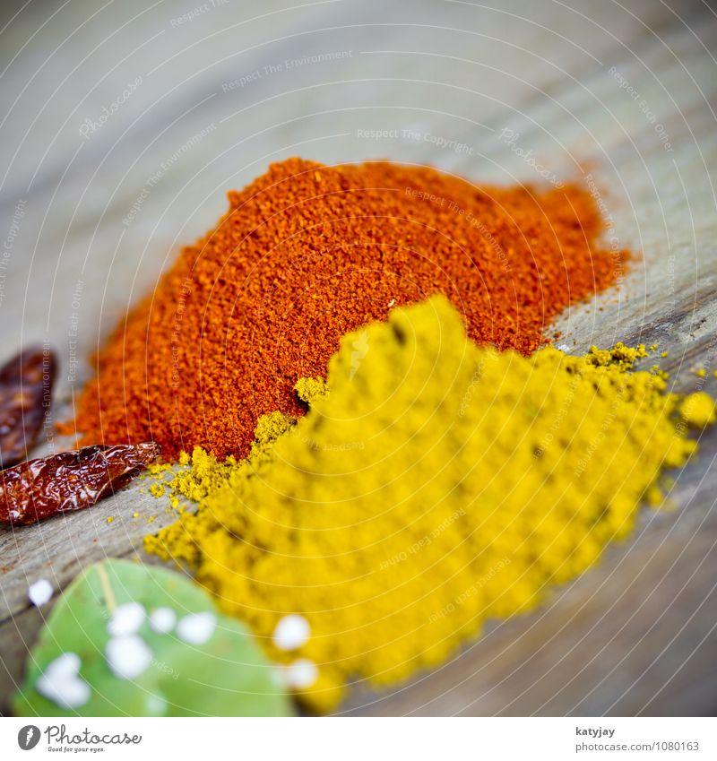 Currypulver Kräuter & Gewürze Paprika Pfeffer Pfefferkörner Geschmackssinn Würzig Gesunde Ernährung Speise Essen Foodfotografie Chili Salz Kochsalz meersalz