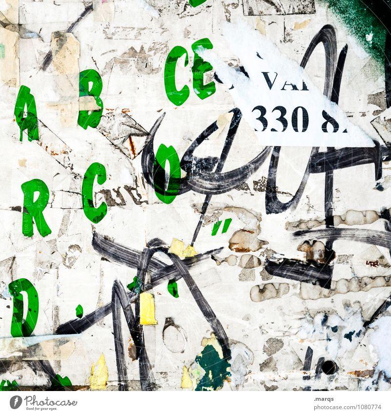 Chiffriert Graffiti außergewöhnlich dreckig Schriftzeichen Kreativität Kommunizieren chaotisch trashig Schwarzes Brett