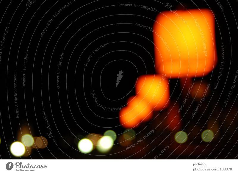 Orange Flow dunkel Unschärfe Nacht Quadrat Lampe Licht Laterne Stuttgart Zimmerlampe Landtag Verkehrswege Langzeitbelichtung orange Zappenduster Kreis jomam