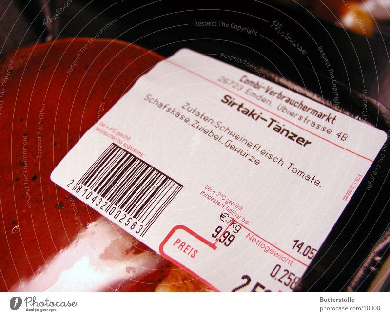 Sirtaki-Tänzer Ernährung Fleisch Verpackung Momentaufnahme