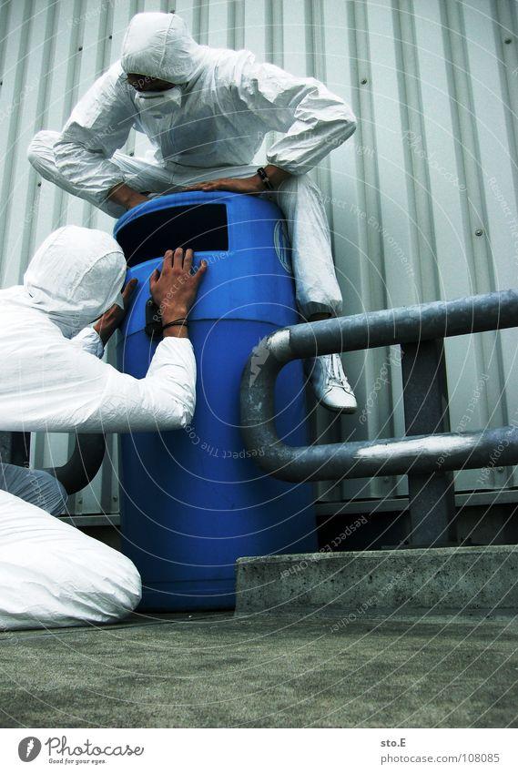 waste researcher pt.2 Kerl Aktion Anzug weiß Sicherheit Schutzanzug Arbeitsbekleidung Pentium Arbeitsschuhe Stahlkappe Maske Schutzmaske Atemschutzmaske
