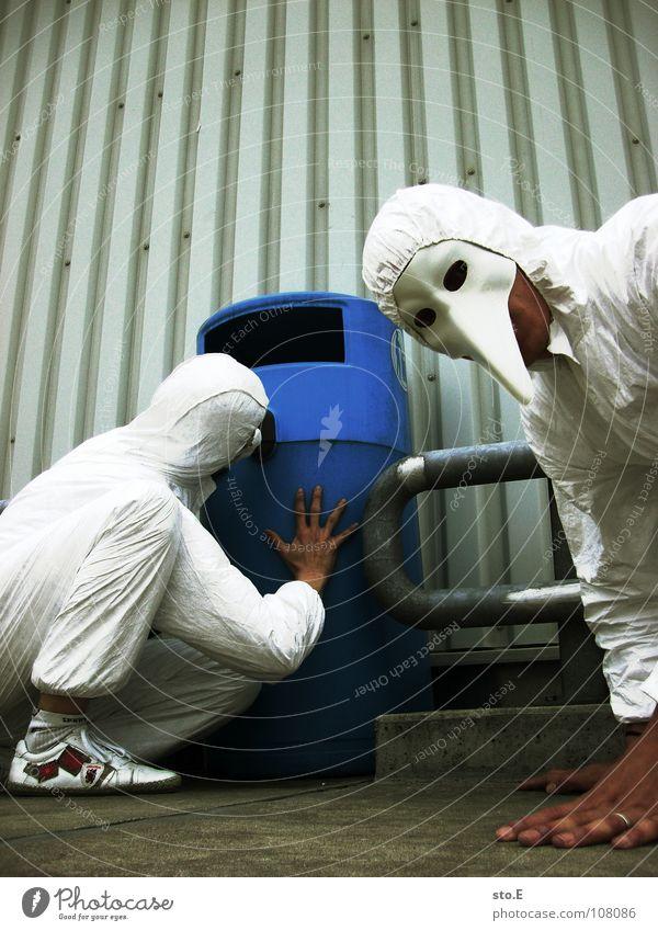 waste researcher pt.3 Kerl Aktion Anzug weiß Sicherheit Schutzanzug Arbeitsbekleidung Pentium Arbeitsschuhe Stahlkappe Maske Schutzmaske Atemschutzmaske