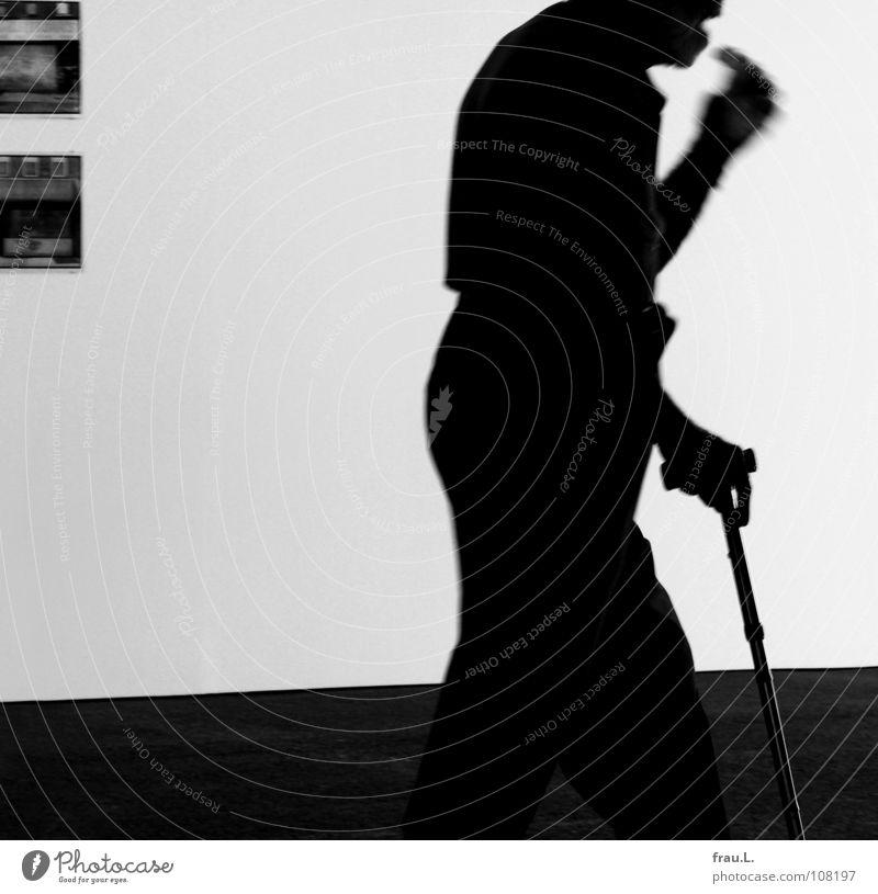 eilig Mann Senior Wand laufen Geschwindigkeit Bodenbelag Stock beweglich Gehhilfe Spazierstock