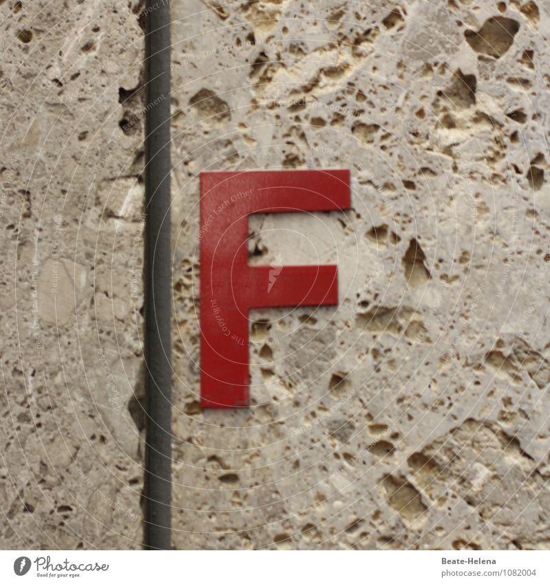 jetzt auch amtlich: Frühlingsbeginn Farbe rot Freude Wand Stil Mauer Freiheit außergewöhnlich Stein braun Fassade Raum leuchten Häusliches Leben