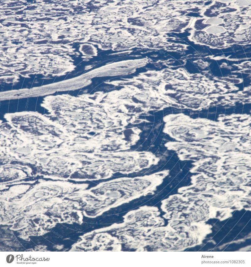 natürlich | Eisproduktion... Umwelt Urelemente Wasser Frost Schnee Gletscher fliegen frieren ästhetisch außergewöhnlich Unendlichkeit kalt blau weiß
