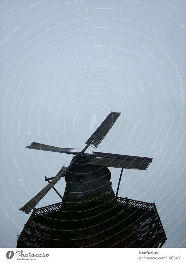 Möchtegern-Flieger schön alt Himmel weiß blau Freude Ferien & Urlaub & Reisen ruhig Haus schwarz Wolken Ferne dunkel Berlin oben Fenster