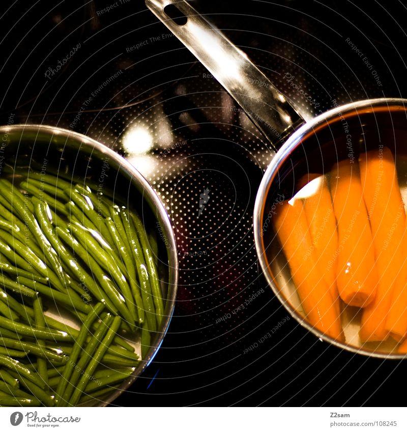 gsund Wasser grün schwarz Ernährung Garten Wärme orange Metall Gesundheit Lebensmittel frisch Kreis Kochen & Garen & Backen Küche rund einfach