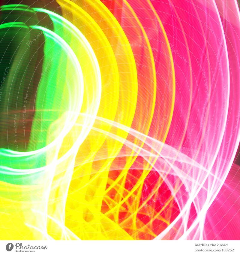 Farben 1 weiß grün rot gelb Farbe Linie rosa Kreis Punkt Geometrie Am Rand