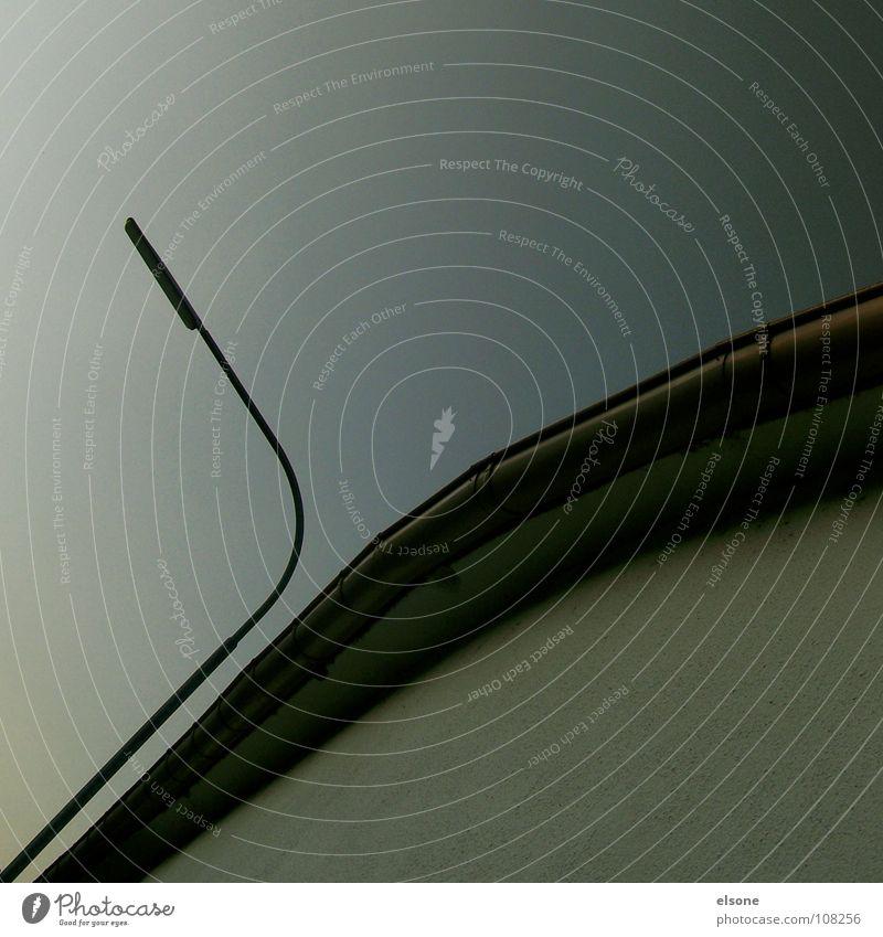 ::AUTOMNAL:: ruhig Haus kalt Herbst oben grau Linie Nebel leer Perspektive rund Frieden Klarheit unten stark