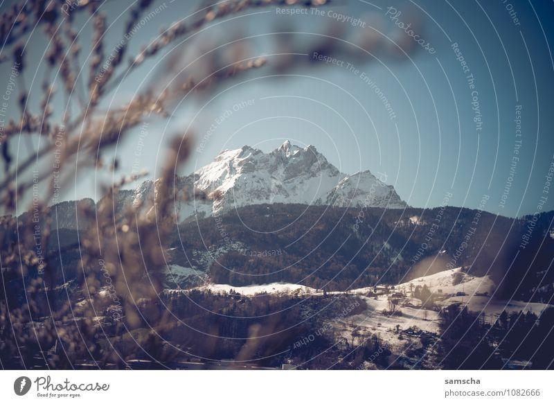 Hallo Frühling II Ausflug Abenteuer Winter Schnee Berge u. Gebirge wandern Umwelt Natur Landschaft Wolkenloser Himmel Hügel Felsen Alpen Gipfel