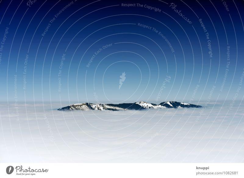 Zwischenwelten Umwelt Natur Landschaft Urelemente Erde Luft Wasser Himmel nur Himmel Wolkenloser Himmel Horizont Sonne Sonnenlicht Frühling Winter Klimawandel