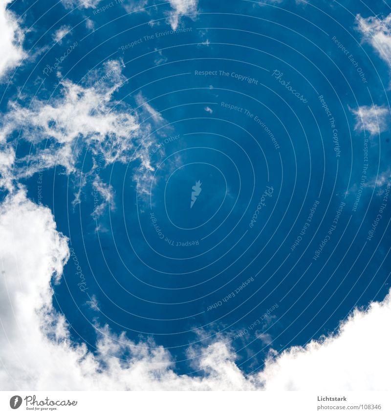 atme Himmel blau Sommer Wolken Graffiti Industrie Luftverkehr
