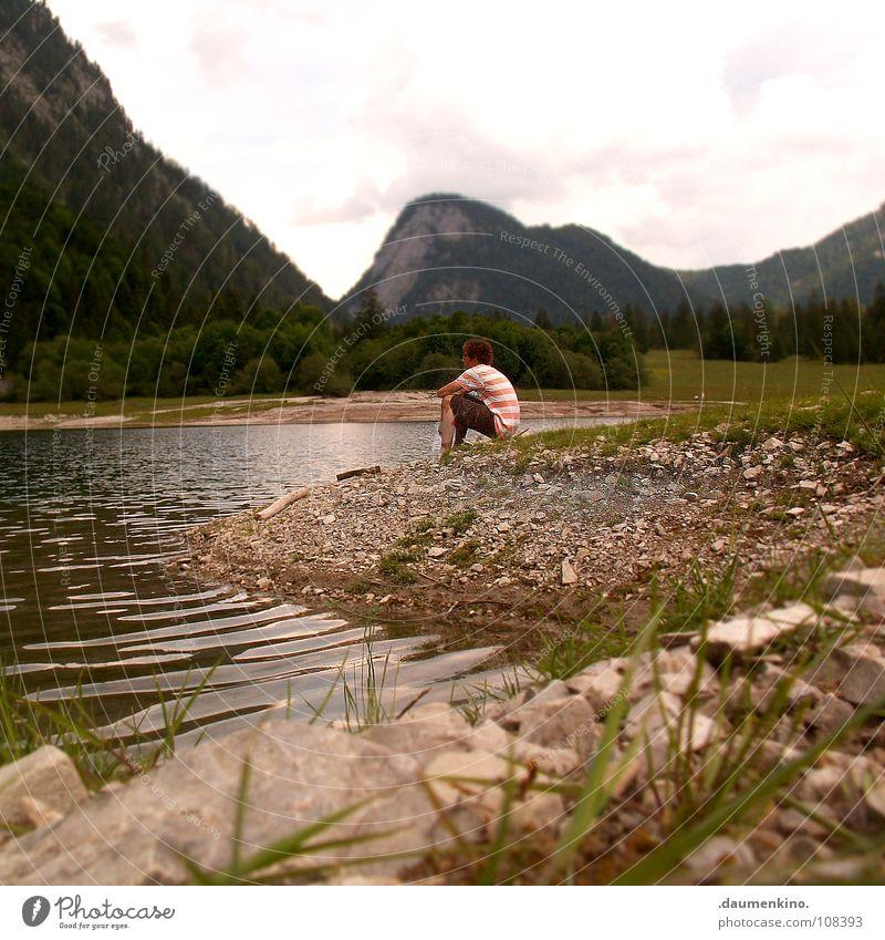 Siddharta Mann Sommer Wasser Baum Einsamkeit ruhig Freude Wald Berge u. Gebirge Leben Wiese Gras Küste Tod Denken See