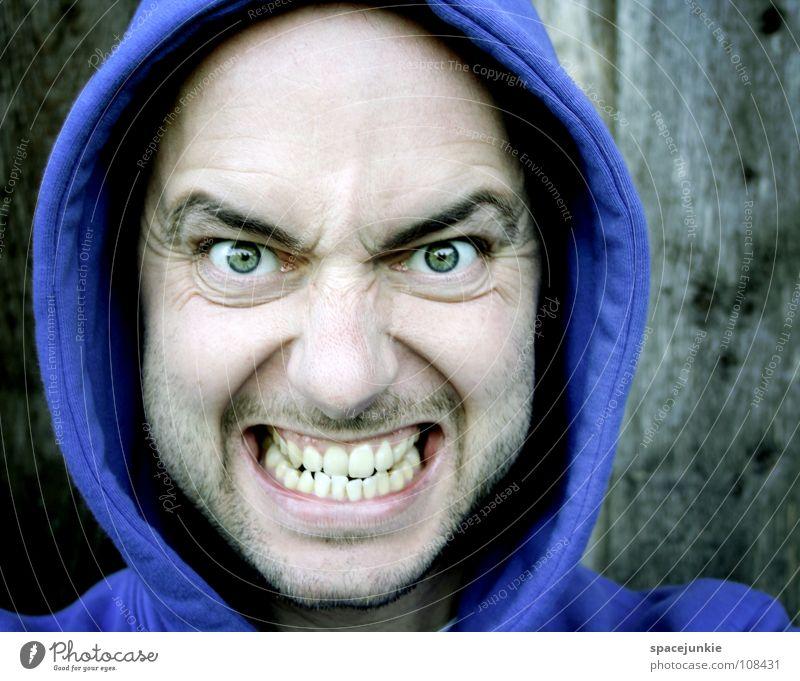 Nur der Zorn zählt Ärger böse Aggression Freak Porträt Wut Rüpel unfair Biest herzlos Grobian Gesicht Freude rücksichtsloser Mensch jähzorniger Mensch