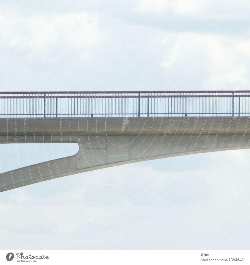 Sky Line Himmel Wolken Dresden Brücke Bauwerk Architektur Brückengeländer Verkehrswege Wege & Pfade Beton Metall Linie ästhetisch elegant hoch lang trocken