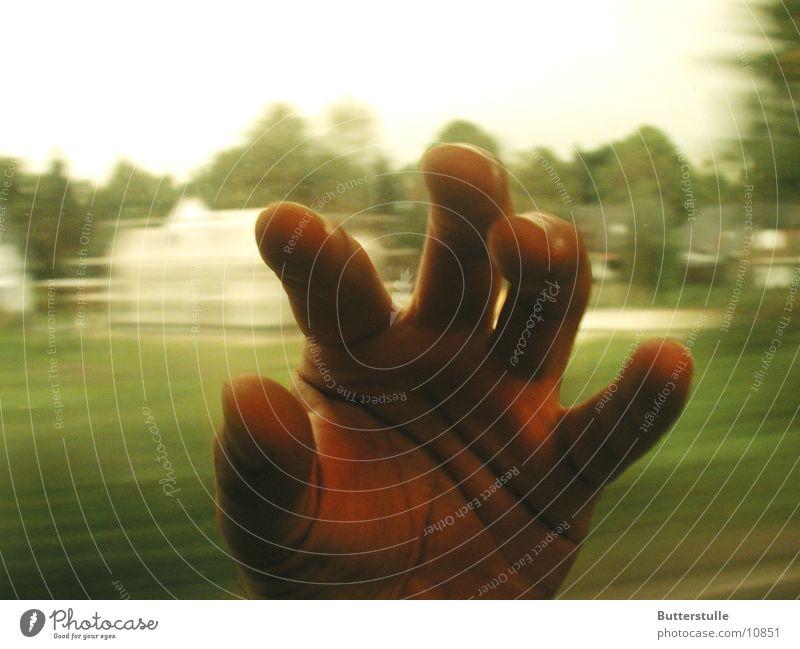 Hand Mensch grün Bewegung