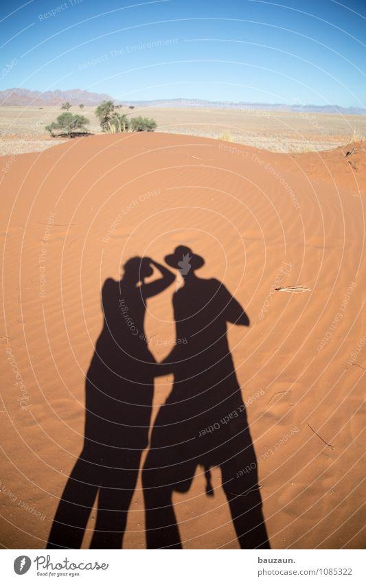 unser weg. Mensch Frau Himmel Ferien & Urlaub & Reisen Mann Sommer Sonne Ferne Erwachsene feminin Gesundheit Freiheit Sand Paar Zusammensein maskulin