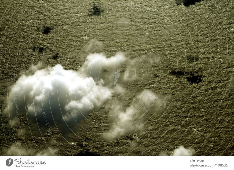 Über den Wolken 2 Aussicht Klimawandel Sonne Luft Horizont Panorama (Aussicht) Flugzeug weiß Meer Wellen Ozon Umweltverschmutzung Kondenswasser Atlantik Pazifik