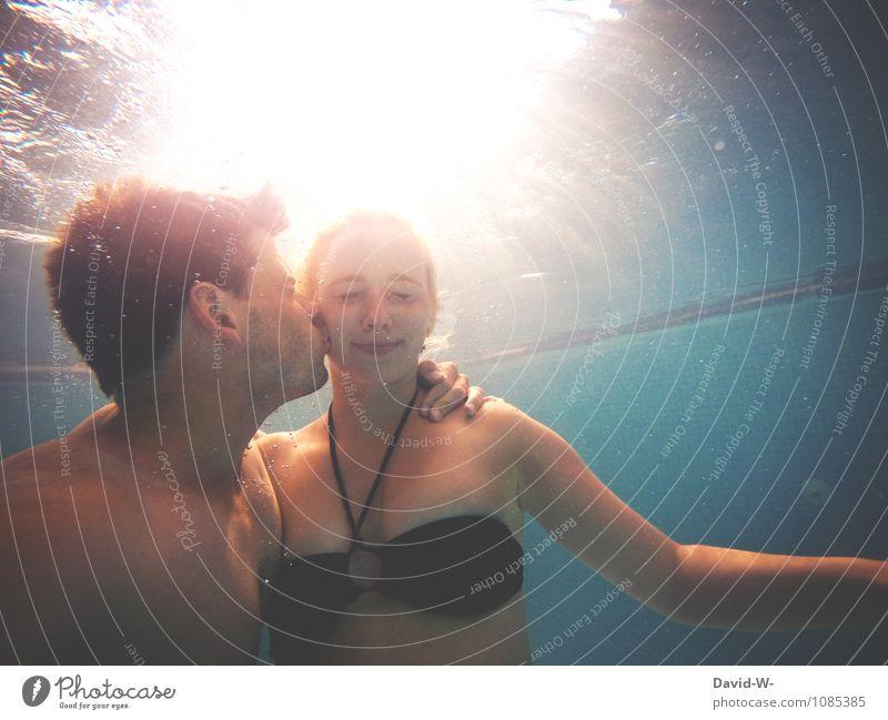 Wasserromantik & 200 - danke photocase Mensch Ferien & Urlaub & Reisen Jugendliche schön Erotik 18-30 Jahre Erwachsene Leben Liebe feminin Glück Paar