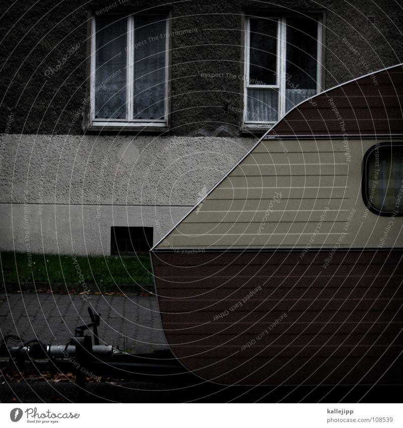 ein chamäleon macht urlaub (teil II) Wohnwagen Wagen parken Parkbucht Fenster Fassade Wohnung Leben vermieten Tarnung Ferien & Urlaub & Reisen Erholung