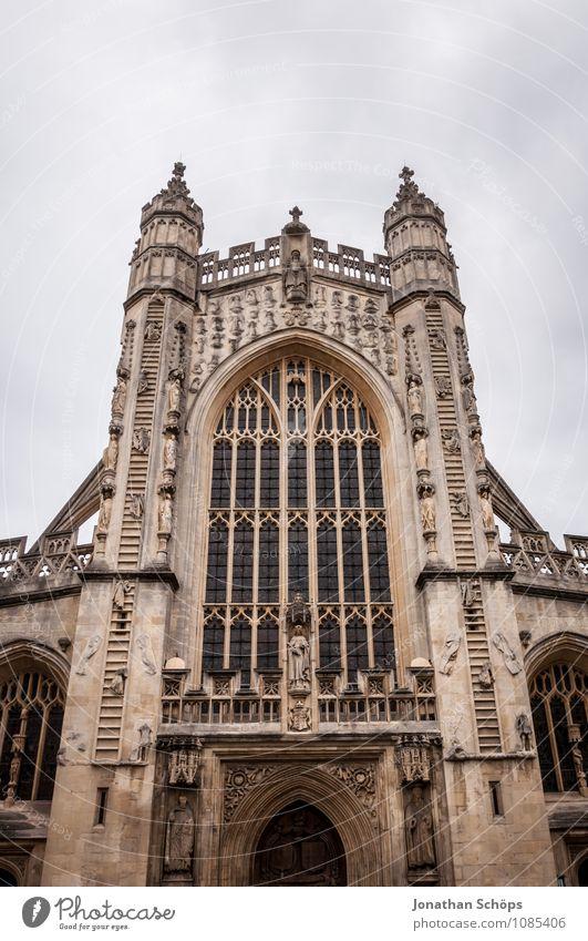 Bath Abbey II Stadt Altstadt Religion & Glaube Kirche Dom Turm Bauwerk Gebäude Architektur Fassade Sehenswürdigkeit Wahrzeichen ästhetisch aufwärts Gotik