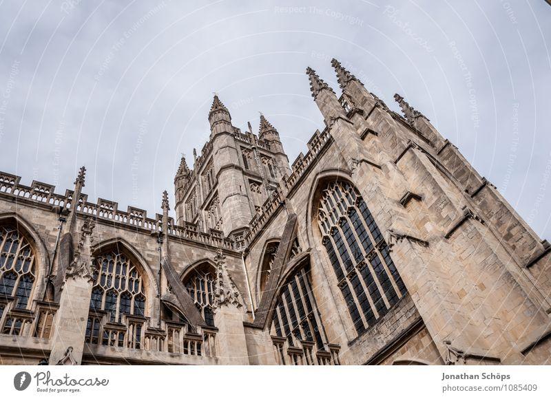 Bath Abbey I Stadt Altstadt Religion & Glaube Kirche Dom Turm Bauwerk Gebäude Architektur Fassade Sehenswürdigkeit Wahrzeichen ästhetisch aufwärts Gotik England