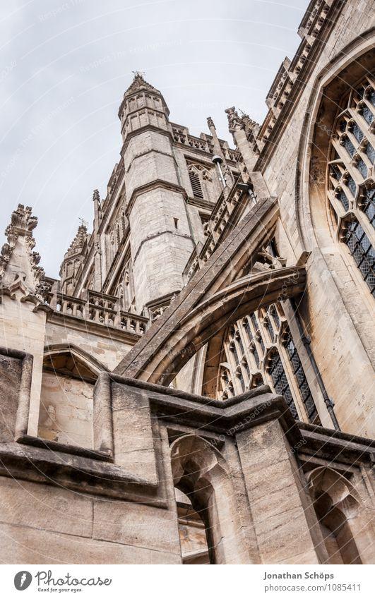 Bath Abbey III Stadt Altstadt Religion & Glaube Kirche Dom Turm Bauwerk Gebäude Architektur Fassade Sehenswürdigkeit Wahrzeichen ästhetisch aufwärts Gotik