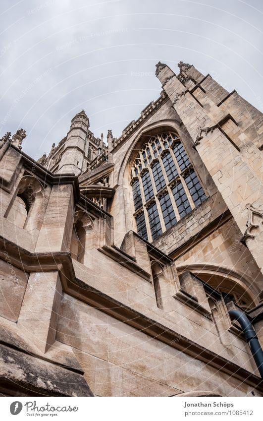 Bath Abbey IV Stadt Altstadt Religion & Glaube Kirche Dom Turm Bauwerk Gebäude Architektur Fassade Sehenswürdigkeit Wahrzeichen ästhetisch aufwärts Gotik