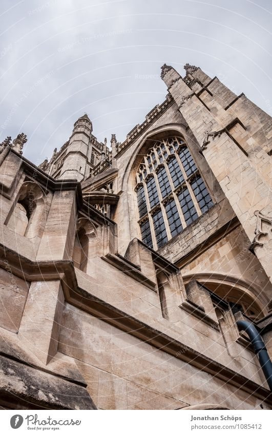 Bath Abbey IV Stadt Fenster Architektur Gebäude Religion & Glaube Fassade ästhetisch groß Kirche Turm historisch Bauwerk Wahrzeichen Sehenswürdigkeit Altstadt