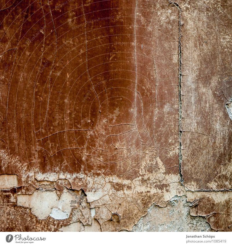 alles nur Fassade Stadt Haus Mauer Wand ästhetisch alt abblättern verfallen braun Riss Putz Putzfassade Strukturen & Formen Hintergrundbild Grunge hart trocken