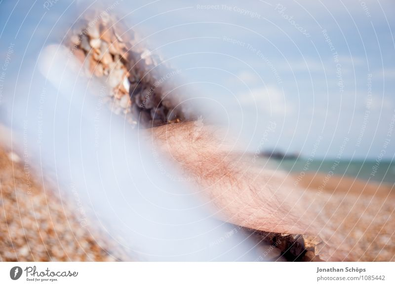 Brighton VIII Schönes Wetter ästhetisch England Strand Steinstrand Reflexion & Spiegelung Prisma abstrakt Experiment Badeort Urlaubsort Ferien & Urlaub & Reisen