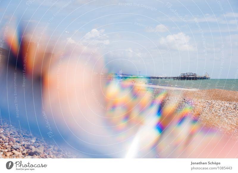 Brighton IX Schönes Wetter ästhetisch England Strand Steinstrand Reflexion & Spiegelung Prisma abstrakt Experiment Badeort Urlaubsort Ferien & Urlaub & Reisen