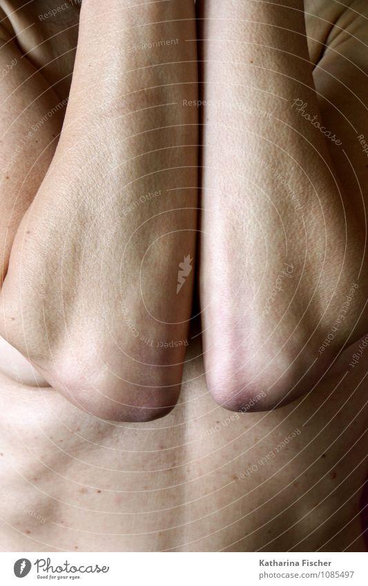 #1085497 Mensch Frau nackt kalt Erwachsene natürlich feminin außergewöhnlich Kunst authentisch Haut 45-60 Jahre dünn eckig frieren Bauch