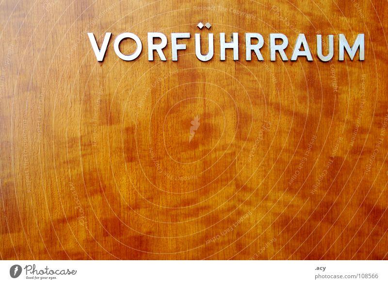 OST vorführraum Holz braun Raum Deutschland Schilder & Markierungen Schriftzeichen Show Theater Kino DDR Typographie Sammlung Glätte Block Mappe Sozialismus
