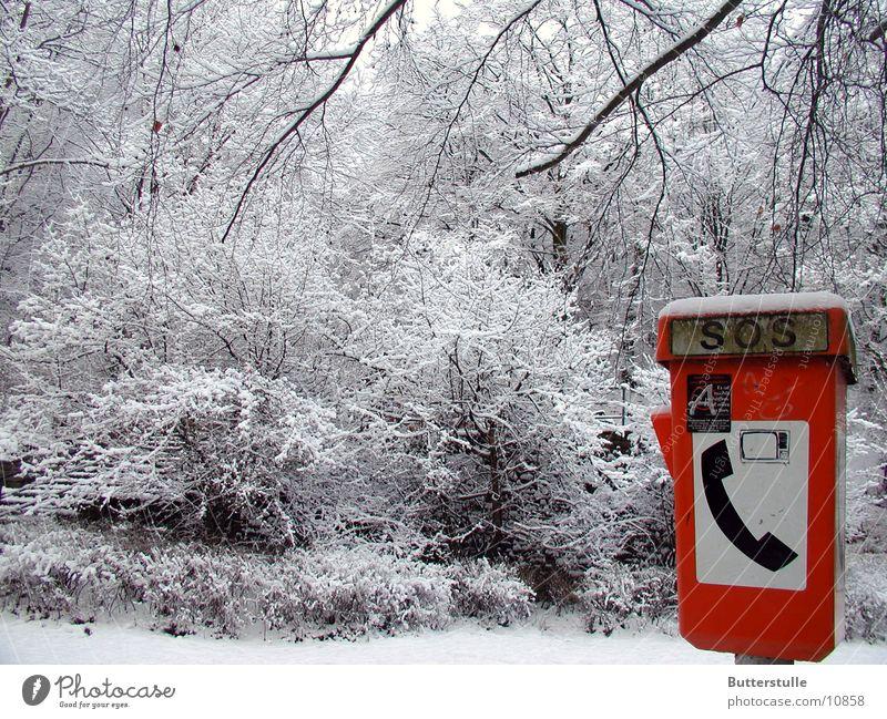 schneealarm Farbe Schnee Landschaft Telefon Notruf