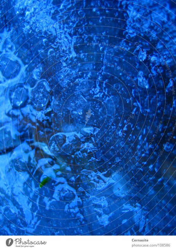 Ice 2 Schnellzug Winter Makroaufnahme Nahaufnahme Bubbles Water Blue Dark