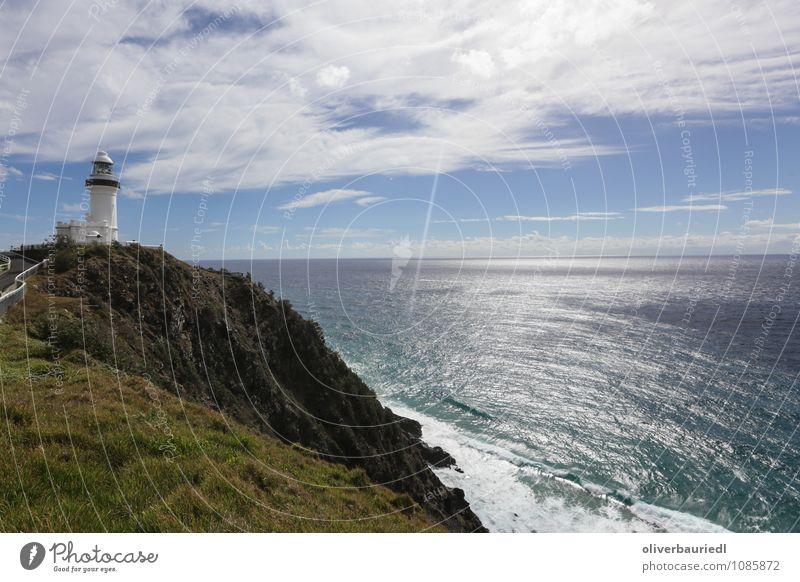Leuchtturm Freizeit & Hobby Ferien & Urlaub & Reisen Tourismus Sonne Meer Natur Landschaft Wolken Schönes Wetter Küste beobachten frisch Unendlichkeit schön