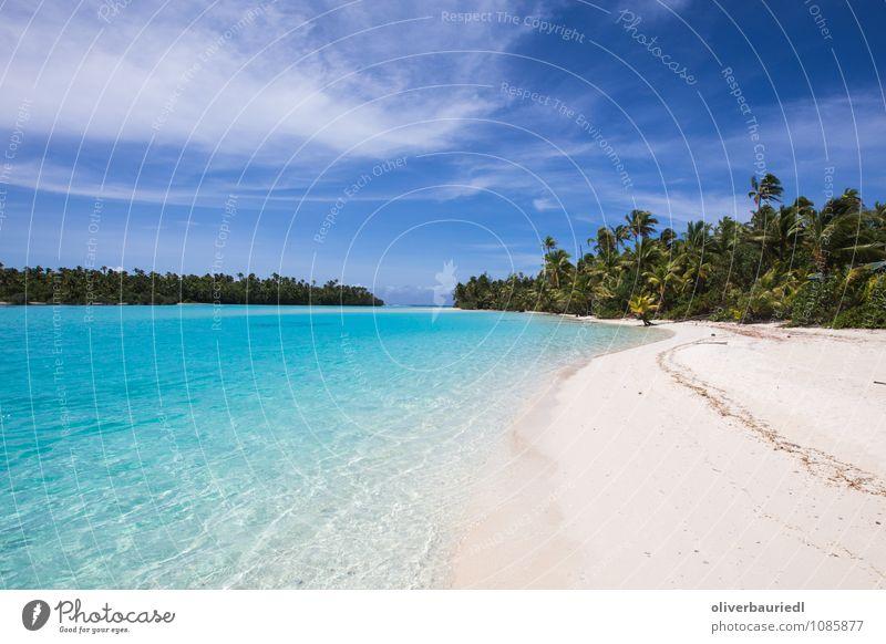 Südsee Paradies Natur Ferien & Urlaub & Reisen blau schön Wasser Sonne Meer Strand Ferne Wärme Gefühle Küste Glück Schwimmen & Baden träumen Tourismus