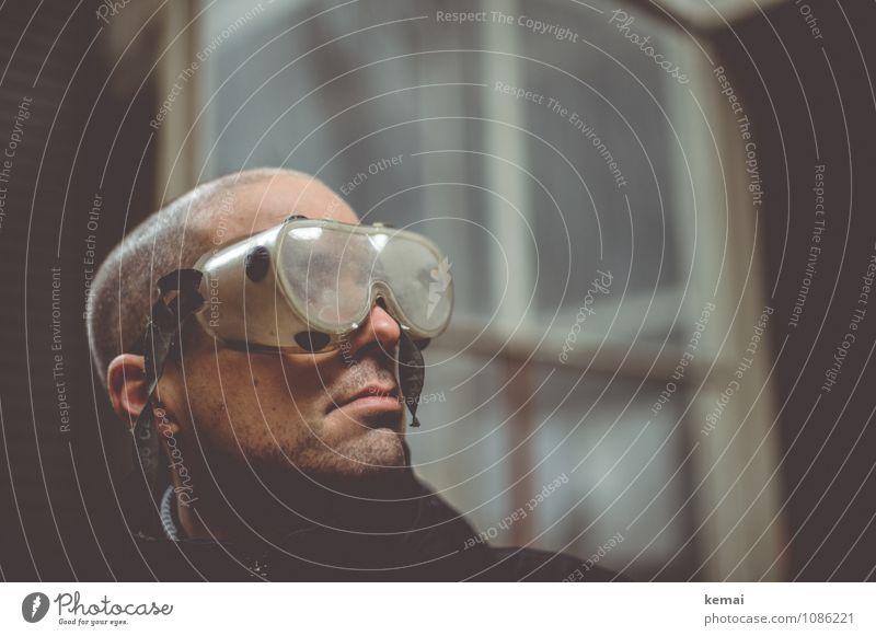 I see the dust clear Mensch Jugendliche Junger Mann ruhig Erwachsene Leben lustig Stil außergewöhnlich Lifestyle Kopf maskulin dreckig Kraft Brille Coolness