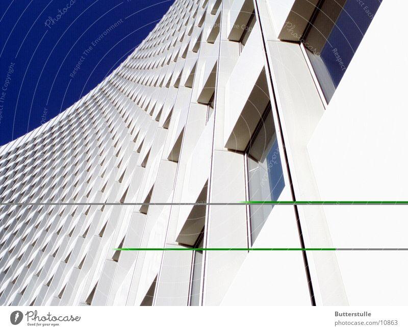 Haushoch Architektur Hochhaus Verzerrung Häuserzeile