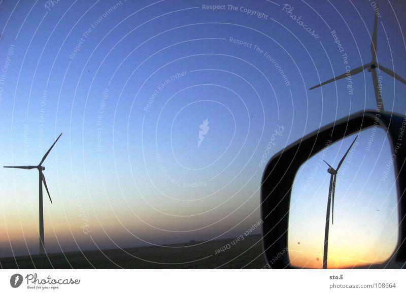 die parallelwelt Natur Himmel blau rot Ferne Wiese PKW Landschaft Feld Wind Umwelt Horizont 3 Industrie Kreis Energiewirtschaft