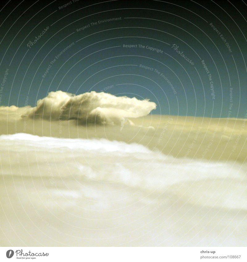 Über den Wolken 6 Himmel Natur blau weiß Ferien & Urlaub & Reisen Meer Erholung Fenster Luft Horizont Wellen Flugzeugfenster Luftverkehr Niveau