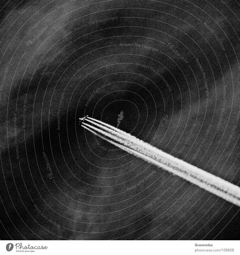 Schönheit der Zerstörung Abgas Ozon Ozonloch Wolken Flugzeug Strahlung 4 gefroren Ferien & Urlaub & Reisen Luftverkehr Klimawandel Himmel auf und davon Freiheit