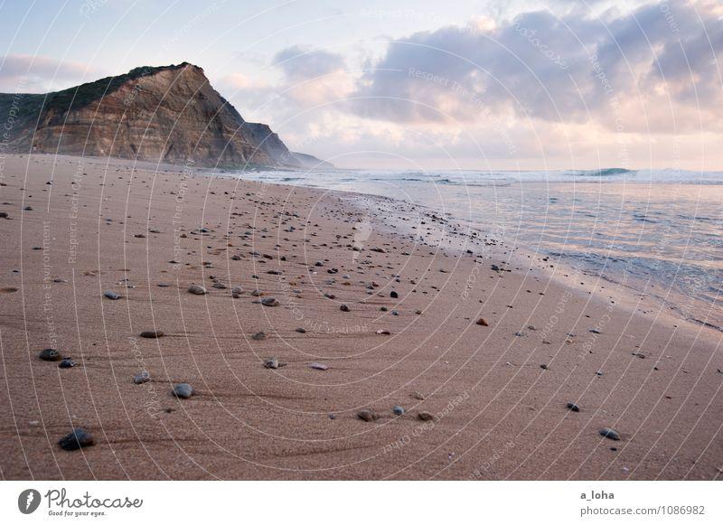 beach things Umwelt Natur Landschaft Urelemente Erde Sand Wasser Himmel Wolken Horizont Sonnenaufgang Sonnenuntergang Sommer Schönes Wetter Felsen Wellen Küste
