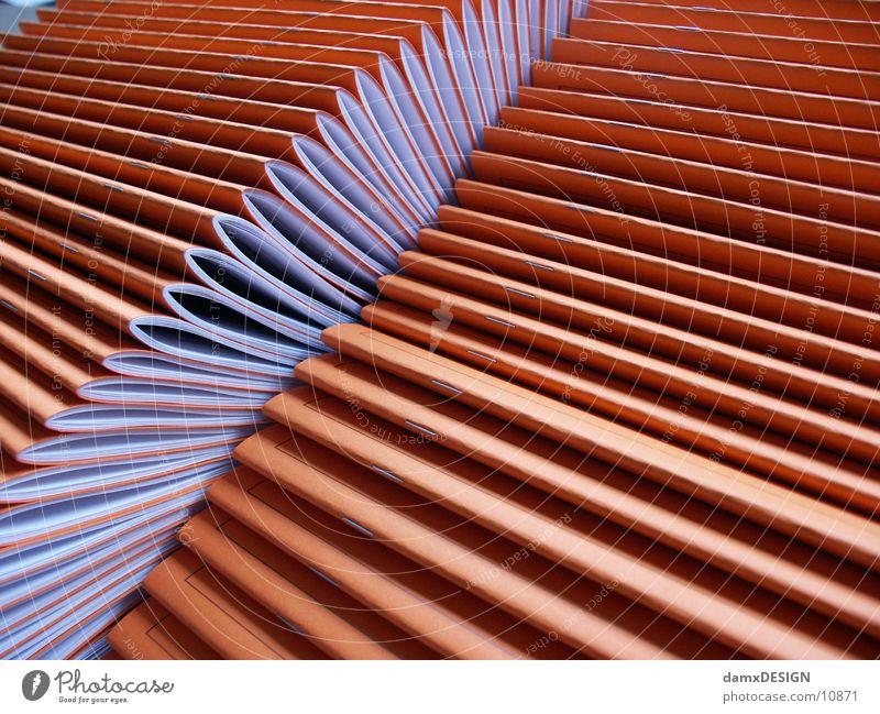 Digitaldruck-Heftchen orange Dinge Papier Zeitschrift Druck Druckerzeugnisse Medien Digitaldruck
