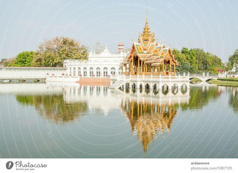Sommerpalast Bangkok Thailand Asien Hauptstadt Stadtzentrum Altstadt Palast Sehenswürdigkeit Erholung Stimmung Ferien & Urlaub & Reisen Seeufer